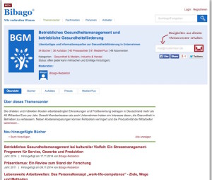 Betriebliches Gesundheitsmanagement: Neuer Informationsdienst