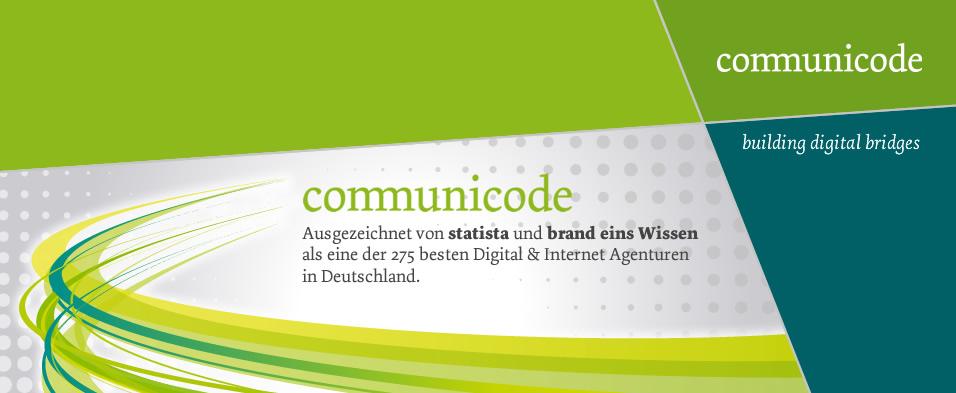communicode AG ist dabei: brand eins Agenturranking