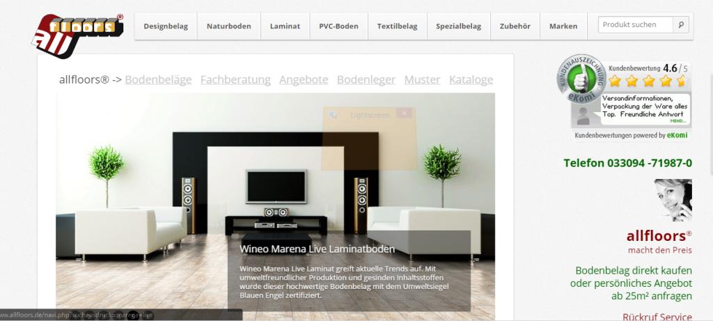 screenshot.17-1024x461 Neuer allfloors® Shop für Bodenbelag - Das Original rüstet auf