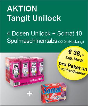 Tangit Unilock Gewindedichtfaden und Somat 10 Spülmaschinentabs