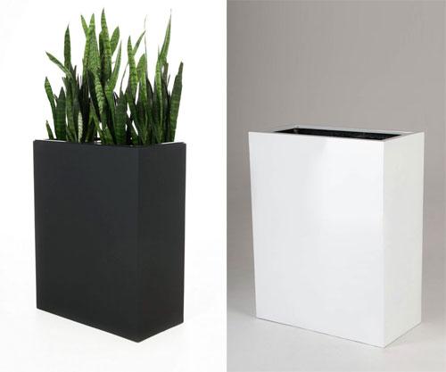 Pflanzkübel mit Doppelfunktion: Neue Raumteiler aus Fiberglas