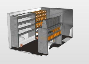 Vorbild für StoreVan mobile Werkstatt für Opel Vivaro für den Elektrobereich