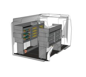 Ein Servicefahrzeug in einem Opel Combo: Eine clevere Lösung für die Branche Montage von Aufzügen