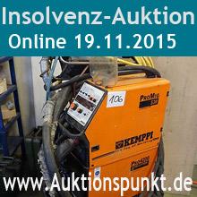 Insolvenz-Online-Auktion am 25.11.2015 ab 12:00 Uhr