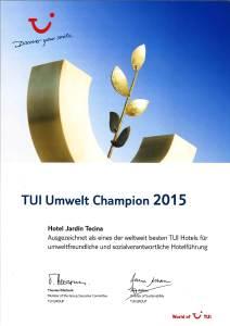 Umwelt1-212x300 Hotel Jardín Tecina zweifach vom deutschen Reiseveranstalter TUI ausgezeichnet