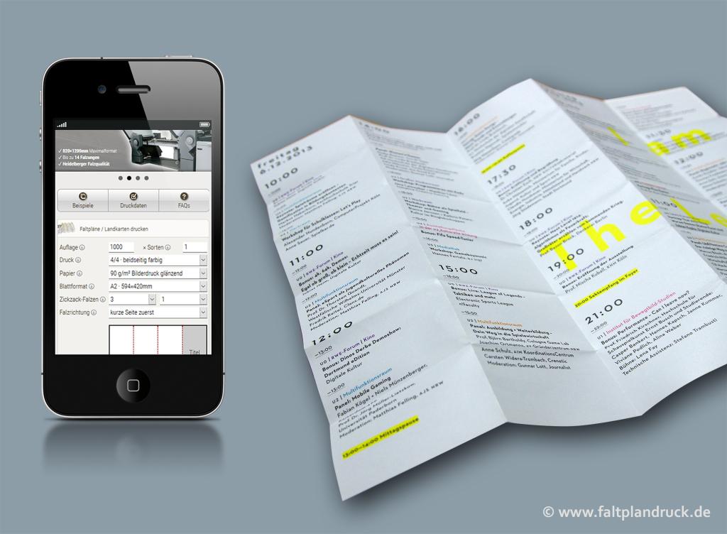 Neue Online Druckerei für individuelle Faltpläne und Landkarten