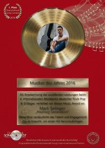 Deutschmusik Song Contest 2016: Gold in sieben Kategorien