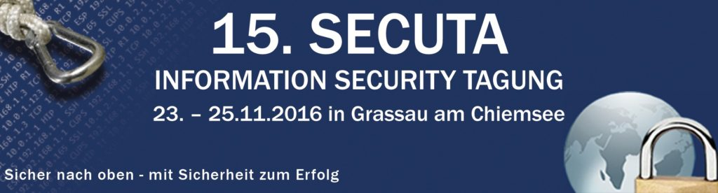 15. SECUTA Information Security Tagung 2016 – Business Networking für IT-Manager & IT-Managerinnen