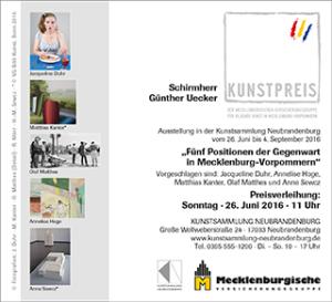 Kunstpreis für Bildende Kunst in Mecklenburg-Vorpommern