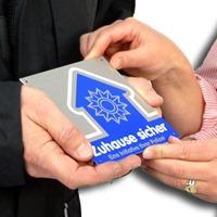 Plakette für Einbruchprävention
