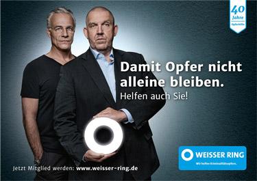 Sieben Tatort-Kommissare unterstützen den WEISSEN RING