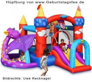 Eine Hüpfburg zum Kindergeburtstag mieten!