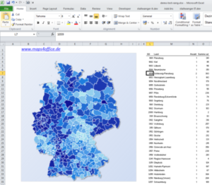 Landkarten – Excel, PowerPoint Präsentationen erleichtern Marketing-Analysen