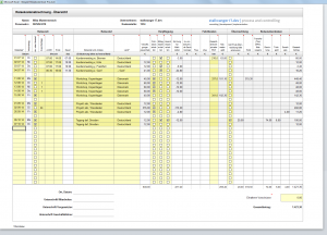 Excel Reisekosten Formular