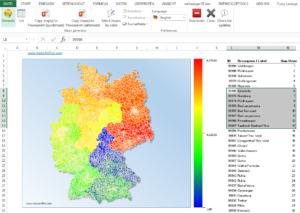 excel-fünfstellige-PLZ-Karte-Deutschland-300x213 Excel Deutschlandkarte GIS-Marketing