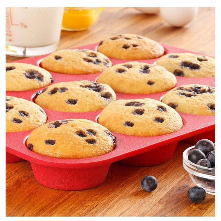 Backform aus Silikon für Mini Muffins und Mini Cupcakes