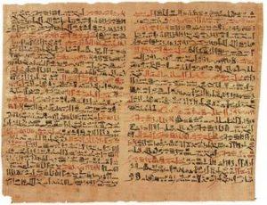 Die ältesten Vorläufer des Buches waren die Papyrusrollen der Ägypter