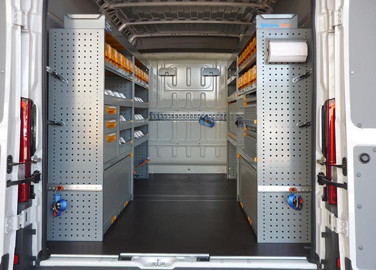 Eine mobile Werkstatt von StoreVan für Renovierungsarbeiten