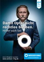 Zeichen für Opferhilfe: Ingo Lenßen, Simone Thomalla und Katharina Wackernagel unterstützen den WEISSEN RING