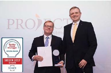 PROJECT Investment Gruppe mit Scope Award ausgezeichnet