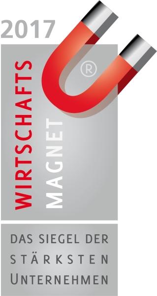 """Siegel """"Wirtschaftsmagnet 2017"""" für Fasihi GmbH"""