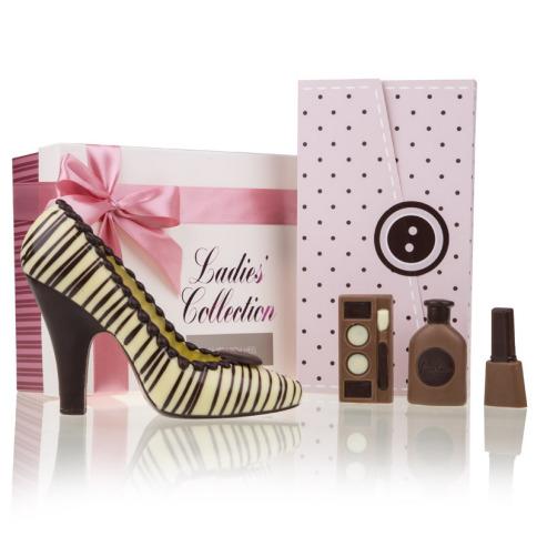 Choco High-Heel White & Vanity Chocolates Dots - Muttertagsgeschenke
