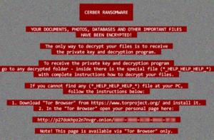 Rote Cerber 2017 Ransomware bleibt Nummer 1 auf dem PC Virus Markt