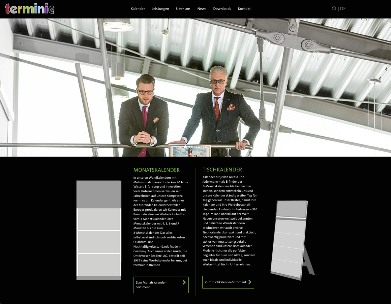 Website Relaunch Kalenderhersteller terminic