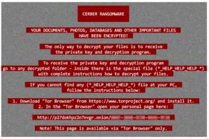 Cerber Ransomware E-Mail mit einer hohen Priorität