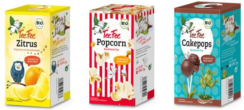 Cakepops und Popcorn als Tee? TeeFee macht's möglich mit den brandneuen zuckerfreien Kindertees!
