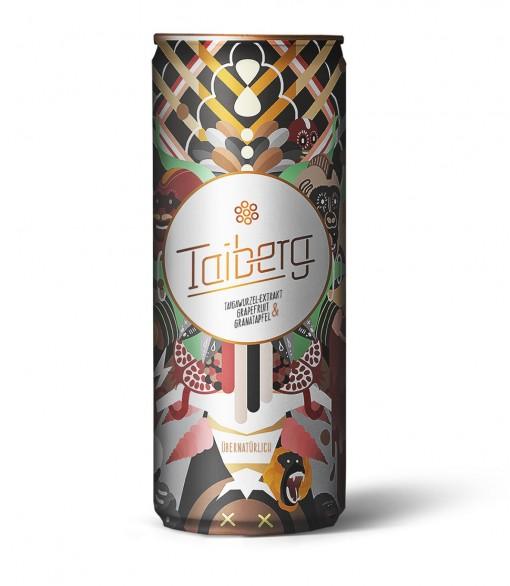 """Jetzt bei Lifestyle Drinks erhältlich: Der übernatürlich erfrischende """"Taiberg Drink"""" für den unvergleichlich stylishen Kreativ-Kick in der prämierten Design-Dose"""