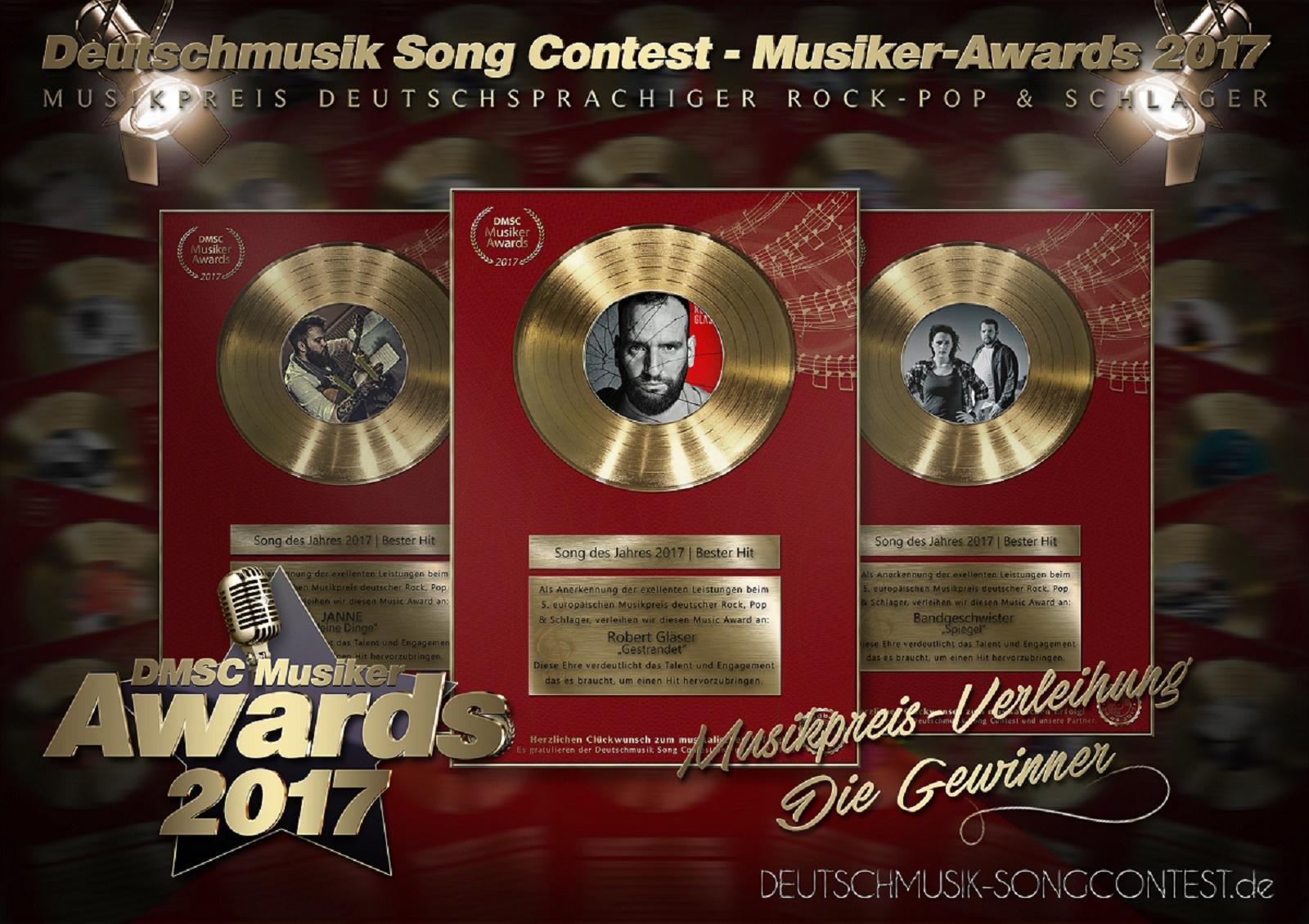 Deutschmusik Song Contest 2017 - Die Gewinner der Musikpreis-Verleihung