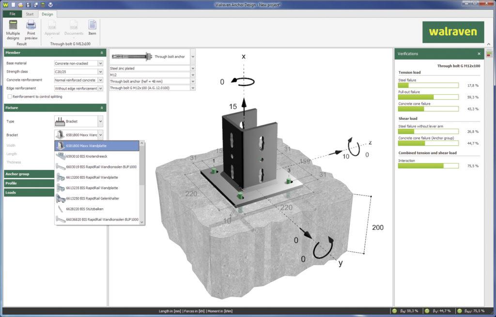 Walraven-Dübel-und-Anker-Software-1024x655 Kostenlose Bemessungssoftware inklusive
