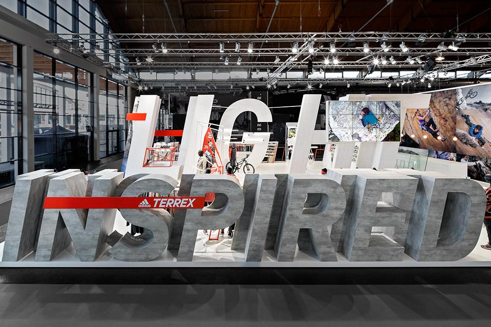 adidas TERREX auf der OutDoor 2017 gestaltet von der D'art Design Gruppe.