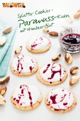 Gruselspaß in Bio-Qualität! Mit den CLASEN BIO Paranüssen innovative Splatter Cookies für die Halloweenparty zaubern und genießen!
