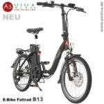 Neue E-Bike Falträder 20-Zoll AsVIVA B13 jetzt in drei Varianten erhältlich