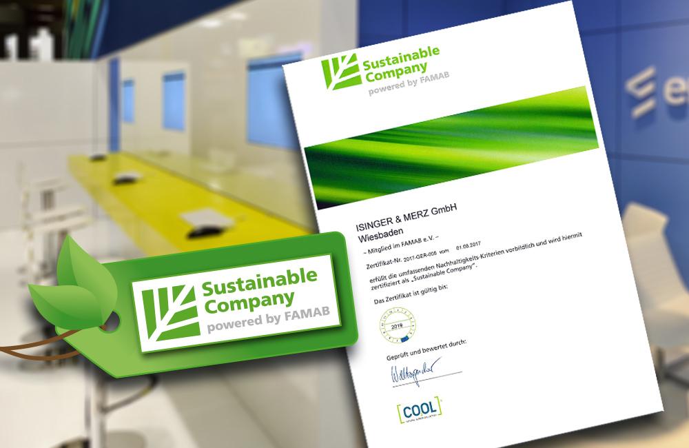 Nachhaltigkeits Zertifikat