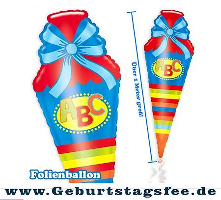 Ein Riesenballon als Schultüte für die Einschulungsfeier