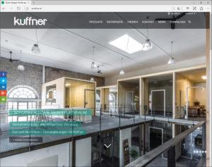 Neue Küffner Website – lösungsorientierte Planungshilfe. Aktuelle Fachinformationen rund um die Tür und Zarge.