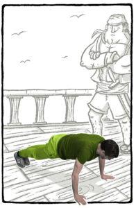 Übung_Dungeons-und-Workouts-196x300 Weltweit einzigartig: Im Buch Dungeons und Workouts trifft Rollenspiel auf Fitness!