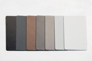 New Collection – Aluzargen im neuen Oberflächendesign. Küffner präsentiert Design-Farben in Feinstruktur matt.