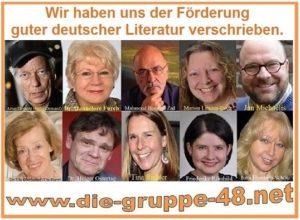 Die Gruppe 48 mit Literaturkenner und Schriftsteller