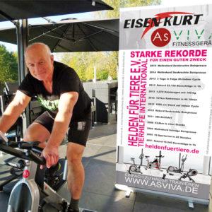 """AsVIVA Speedbike schafft 56 km/h dank Kurt """"Eisenkurt"""" Köhler – Rekord nur knapp verpasst"""