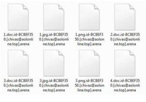 Arena Verschlüsselung Datei Virus. Ist es möglich zu entsperren?