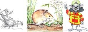 Drei coole Mäuse sind los