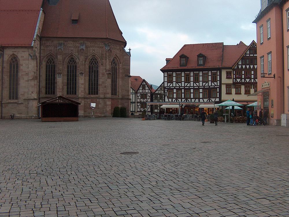 Das historische Stadtzentrum von Schmalkalden als Austragungsort des Weihnachtsmarktes