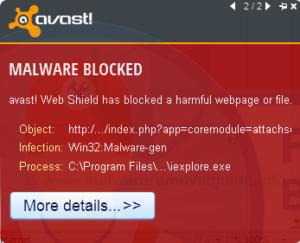 Win32: malware-gen Trojan Emotet beim Baidu Antivirus