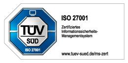 TUEV-Zertifizierung ISO 27001-2013 CSP