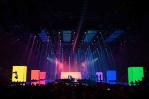 Faber Audiovisuals realisierte Kreativkonzept der MTV European Music Awards