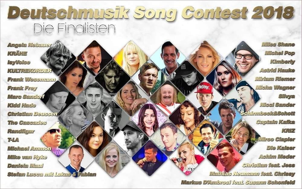 Deutschmusik Song Contest 2018 - Die Finalteilnehmer